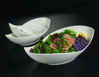 American Metalcraft PLDB38 Prestige Leaf Bowl 1 oz 3-7/8 x 1-1/3 in H Porcelain Restaurant Supply