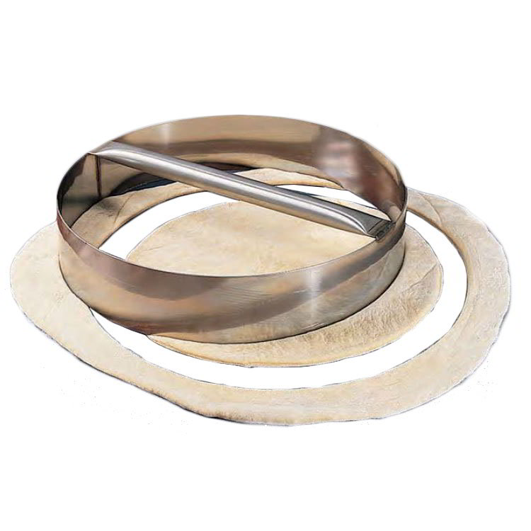 American Metalcraft RDC15 Dough Cutting Ring 15 in ID x 3 in H Stainless w/ Welded Handle Restaurant Supply