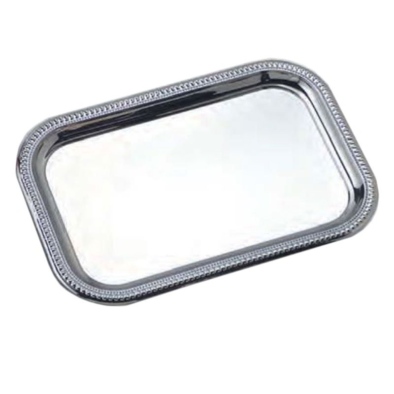 American Metalcraft SSTRT22 Royal Touch Serving Tray 18 in x 12 in Rectangular Stainless Steel Restaurant Supply