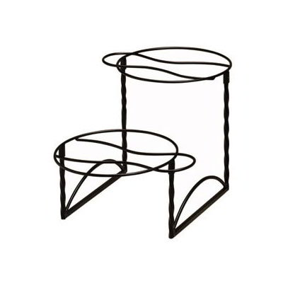 American Metalcraft TLTS1224 Display Stand 2 Tier Black Wrought Iron Restaurant Supply