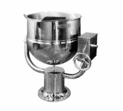 Groen D-40 Tilting Kettle, Direct Steam, 40 Gallon, Pedestal Base, SS