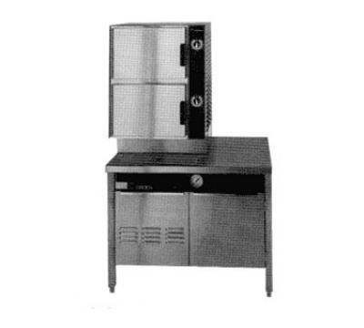 Groen HY-6SG-36 HyPlus Pressureless Steamer, 36 in Cabinet Base, 2 Compartment, Gas