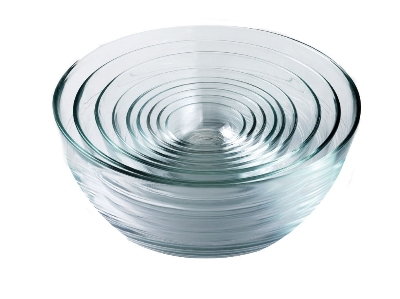 Duralex 200009 9 Piece Lys Bowl Set, Clear