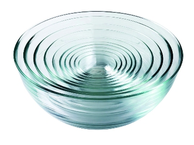 Duralex 200010 10 Piece Lys Bowl Set, Clear