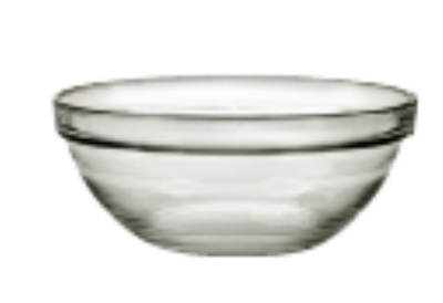 Duralex 511700C67 2-3/8 in Lys Mixing Bowl w/ Stackable Rim, Clear