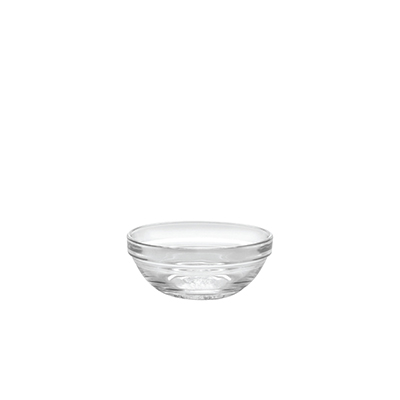 Duralex 511720M98 3-1/2 in Lys Mixing Bowl w/ Stackable Rim, Clear