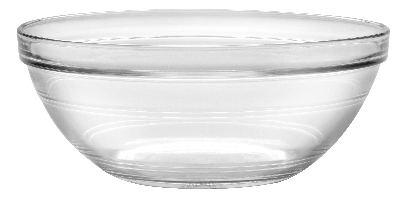 Duralex 511750M93 9 in Lys Mixing Bowl w/ Stackable Rim, Clear