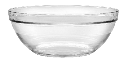 Duralex 511760M91 10-1/4 in Lys Mixing Bowl w/ Stackable Rim, Clear