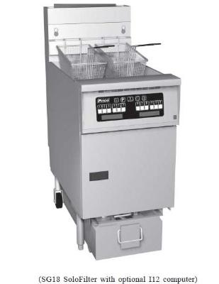 Pitco 1-SF-SG14R-S NG 50 lb Solstice Fryer & Solstice SoloFilter High Power Millvolt NG Restaurant Supply