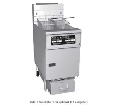 Pitco 1-SF-SG14TSSTC-S LP Gas Fryer - (1) 25-lb Vat, Floor Model, LP