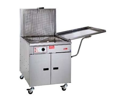Pitco 24FM LP 150 lb Fish Fryer, Mechanical, Low Back Splash, Food/Fish Grid, LP