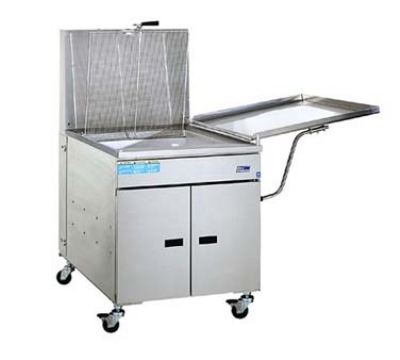 Pitco 24PM NG 150 lb Donut Fryer, Mechanical, Stainless, Drainboard, NG