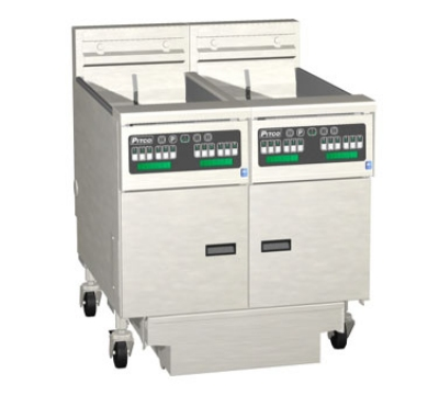 Pitco 2SE14XSSTC-S/FD-2083 (2) 50 lb Solstice Fryers & FilterDrawer Solid State 14 Kw Each 208/3 Restaurant Supply