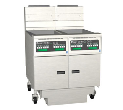 Pitco 2-SG18C-S/FD NG Gas Fryer - (2) 90-lb Vat, Floor Model, NG