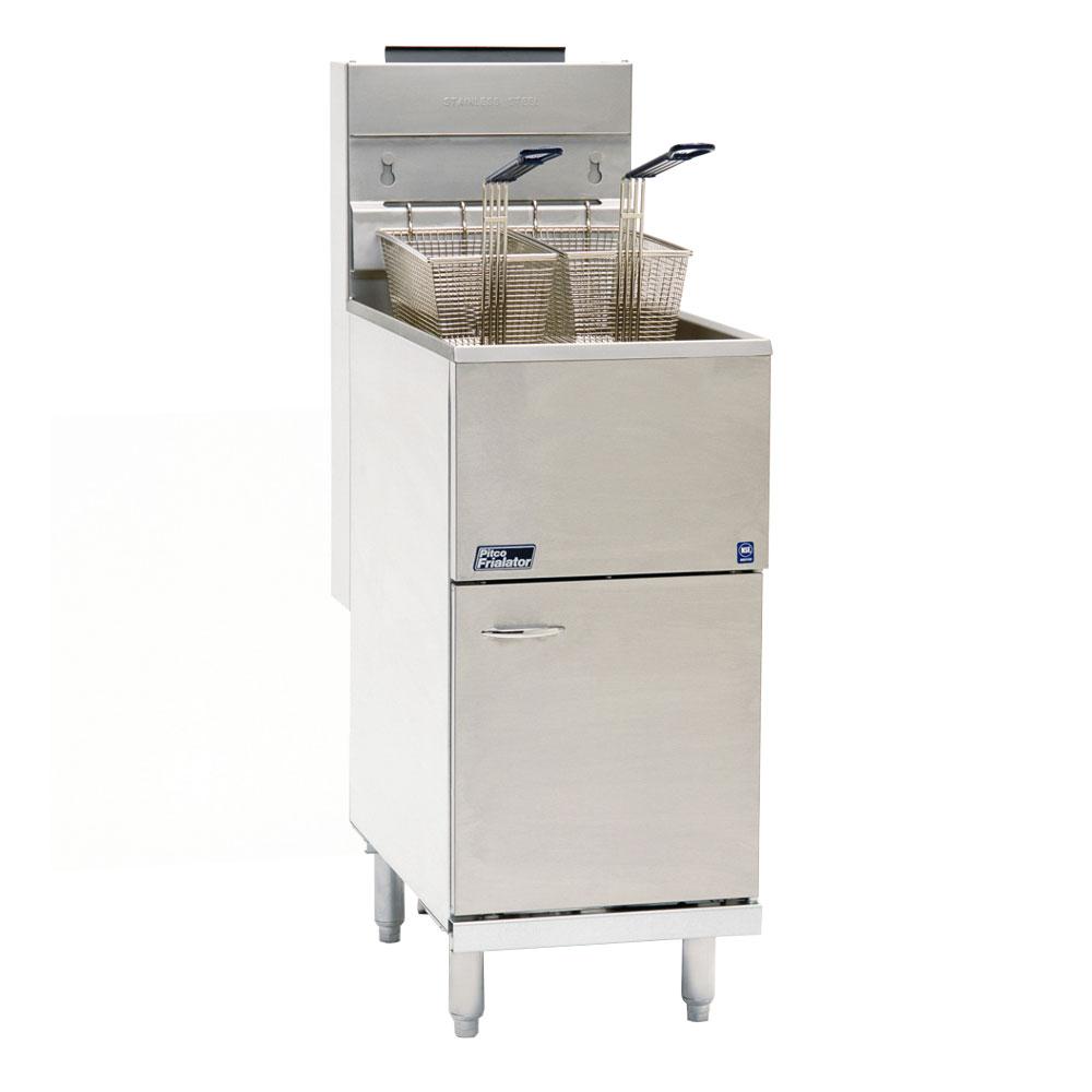 Pitco 35C+S LP Gas Fryer - (1) 35-lb Vat, Floor Model, LP