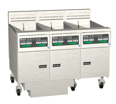 Pitco 3SE14RSSTC-S/FD-2401 (3) 50 lb Solstice Fryers & FilterDrawer High Power Solid State 240/1 Restaurant Supply