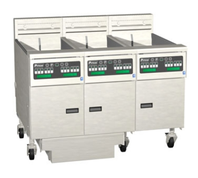 Pitco 3-SE14XD-S/FD-2203 (3) 50 lb Solstice Fryers & FilterDrawer, Digital, 220/3V, Export