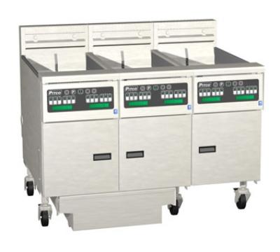 Pitco 3-SE18RD-S/FD-2403 (3) 70-90 lb Solstice Fryers & FilterDrawer High Power Digital 240/3 Restaurant Supply