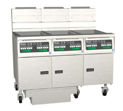 Pitco 3-SG14RD-S/FD NG (3) 50 lb Solstice Fryers & FilterDrawer, High Power, Digital, NG