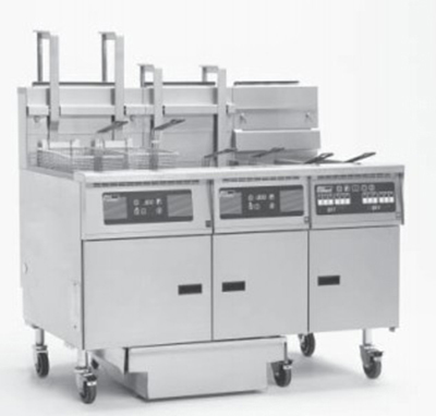 Pitco 3-SG18 S/FD NG1151 Fryer Filter Drawer System (3)70-To 90-lb Capacity Millivolt Controls NG 115V