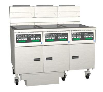 Pitco 3-SSH55RD-S/FD NG (3) 40-50 lb Solstice Supreme Fryer & FilterDrawer 300,000 BTU Digital NG Restaurant Supply