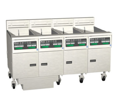 Pitco 4-SE14RD-S/FD-2203 (4) 50 lb Solstice Fryers & FilterDrawer, High Power, Digital, 220/3, Export