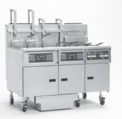 Pitco 5-SG14RD-S/FD (5) 50 lb Solstice Fryers & FilterDrawer Restaurant Supply
