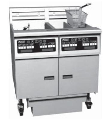 Pitco 6SE18RSSTC-S/FD-2203 (6) 70-90 lb Solstice Fryers & FilterDraw Restaurant Supply
