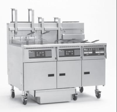Pitco 6-SG14C-S/FD NG (6) 50 lb Solstice Fryers & FilterDrawer 660,000 BTU Computer NG Restaurant Supply