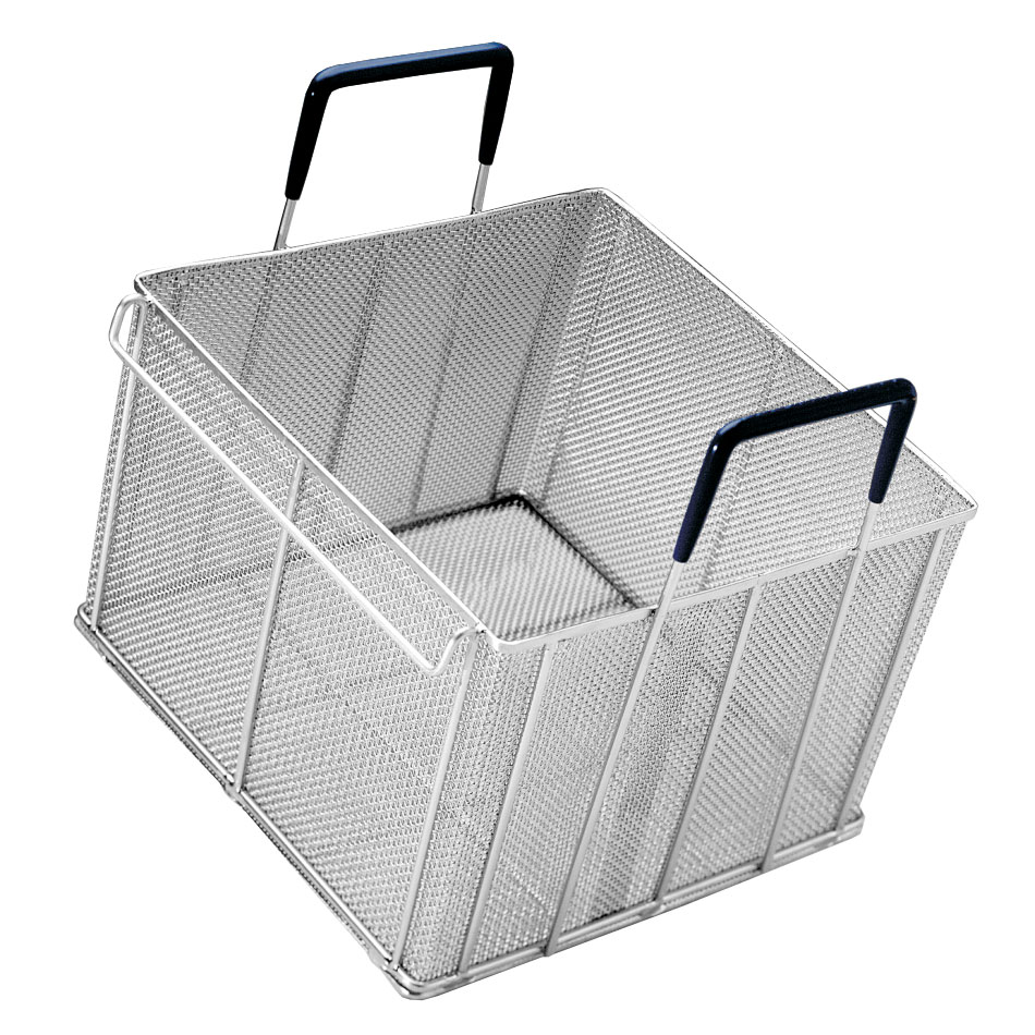 Pitco B4510202 Small Bulk Pasta Basket, 13 in x 13 in x 8.5 in D, Side Handles
