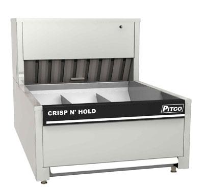 Pitco PCC-28 4-Section Countertop Crispy Food Station 1780-in Capacity Circulated Air Heating