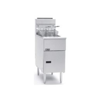 Pitco SG14RSDLP Gas Fryer - (2) 50-lb Vat, Floor Model, LP