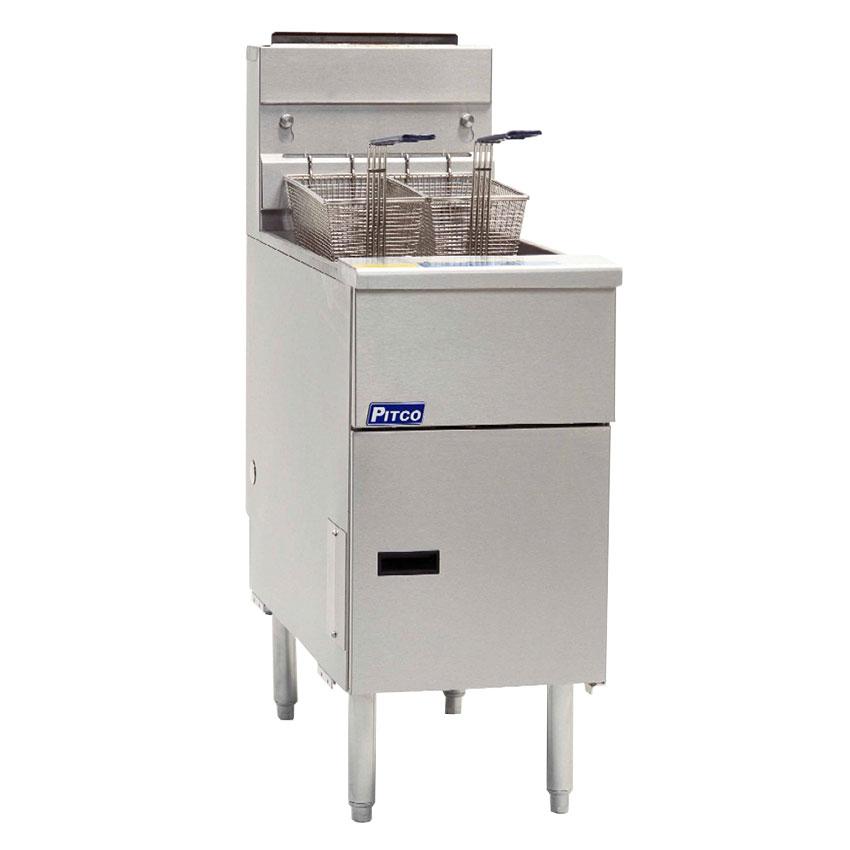 Pitco SG14SNG Gas Fryer - (1) 50-lb Vat, Floor Model, NG