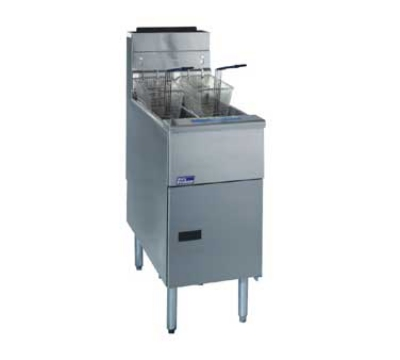 Pitco SG14TS LP (2) 20-25 Solstice Fryer, Twin Tanks, Millvolt, (free standing) LP
