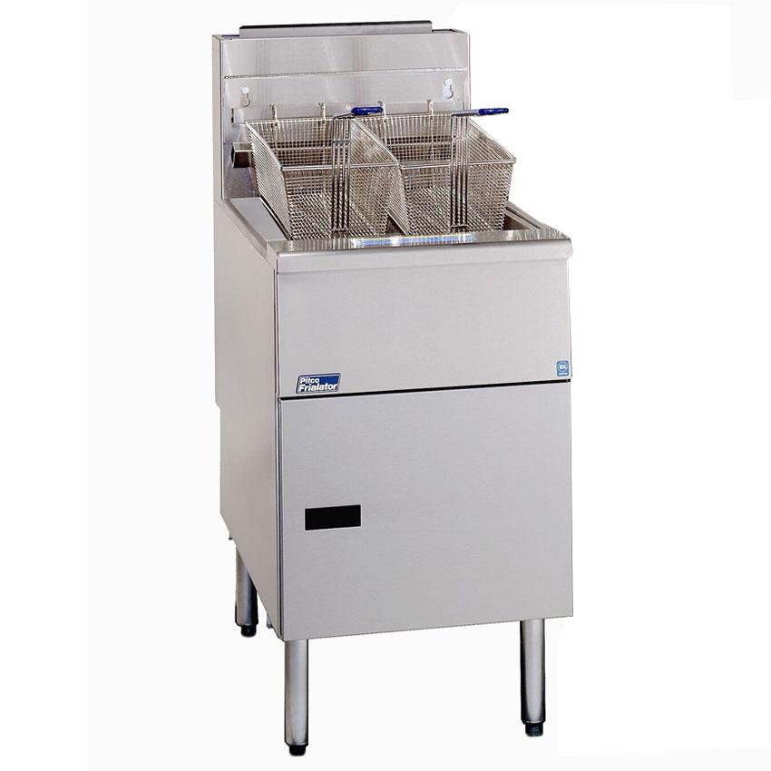 Pitco SG18S NG Gas Fryer - (2) 90-lb Vat, Floor Model, NG