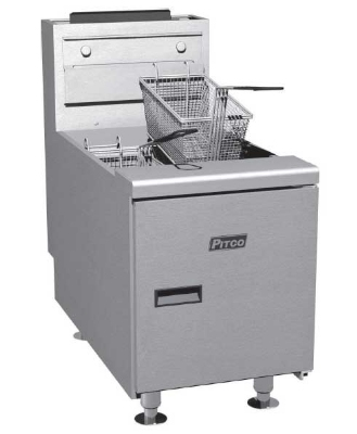 Pitco SGC-S NG 35 lb Counter Top Solstice Fryer, Millvolt, 4 in Legs, 75,000 BTU, NG