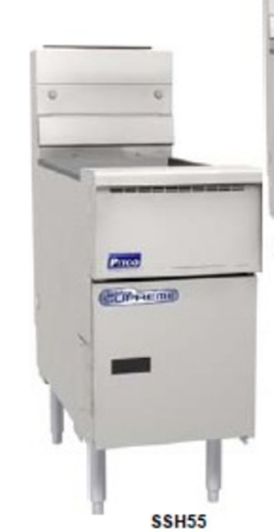 Pitco SSH55R-MC-S LP Gas Fryer - (1) 50-lb Vat, Floor Model, LP
