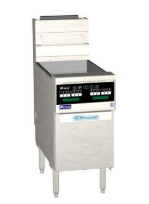 Pitco SSH60WR-SSTC NG 50-60 lb Solstice Supreme Fryer 18 in x 14 in Solid State 100,000 BTU NG Restaurant Supply