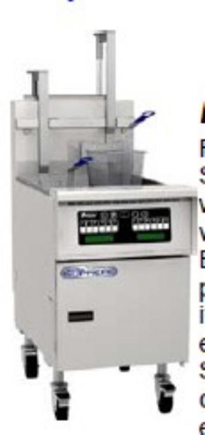 Pitco SSH75-MC-S NG Gas Fryer - (1) 75-lb Vat, Floor Model, NG
