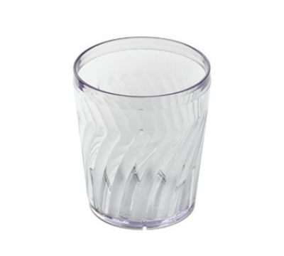 Dinex DX4GC607 6-oz Swirl Tumbler, Clear