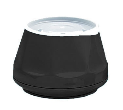 Dinex DX420003 5-oz Heritage Insulated Stackable Bowl, Onyx