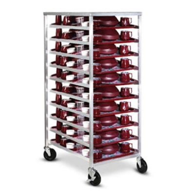 Dinex DXDHOR20U Universal Room Service Cart w/ 1-Compartment, 20 Tray, Angle Slides