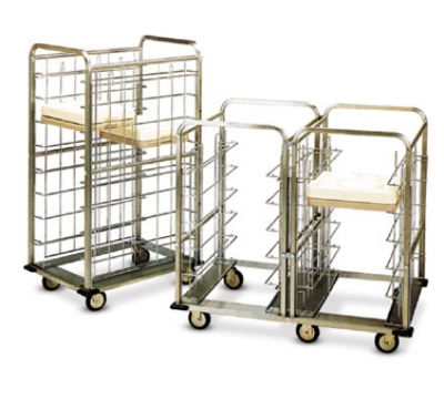 Dinex DXICSUU12 46.5-in Suspended Tray Delivery Cart w/ 12 Tray Capacity, Bumper