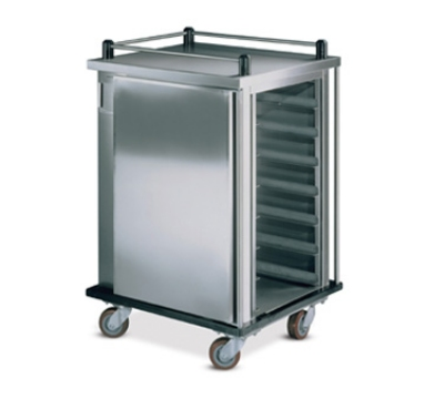 Dinex DXPSC12 Single Enclosed Tray Delivery Cart w/ (12) 13 X 21-in Tray Capacity