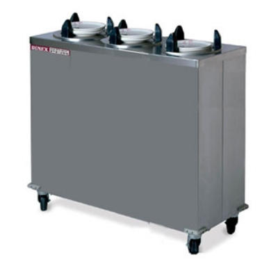 Dinex DXIDP3E1200 12.25-in Enclosed Plate Dispenser w/ 150 Plate Or 108 Bowl Capacity