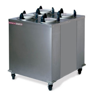 Dinex DXIDPH4E1200 12.25-in Mobile Enclosed Heated Plate Dispenser w/ 4-Tube Frame