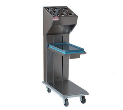 Dinex DXIDTS1C1520 Cantilever Single Tray & Silverware Dispenser w/ 10-Cylinder, 15 x 20-in