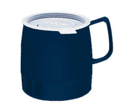 Dinex DX119750 8-oz Classic Insulated Stackable Mug, Midnight Blu