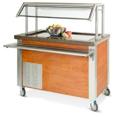 Dinex DXDFT3 49-in Frost Top Refrigerated Counter, For (3) 12 x 20 x 1-in, 120V