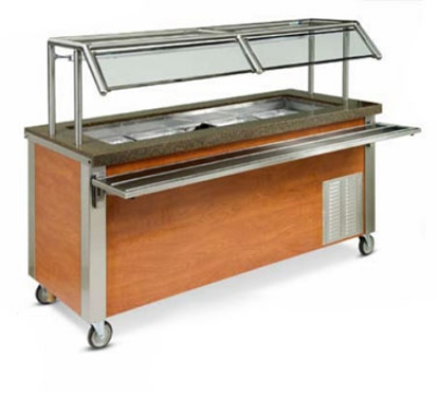 Dinex DXDHC2 2-Well Mobile Hot Cold Serving Counter w/ Wet Or Dry Operation, 120 V